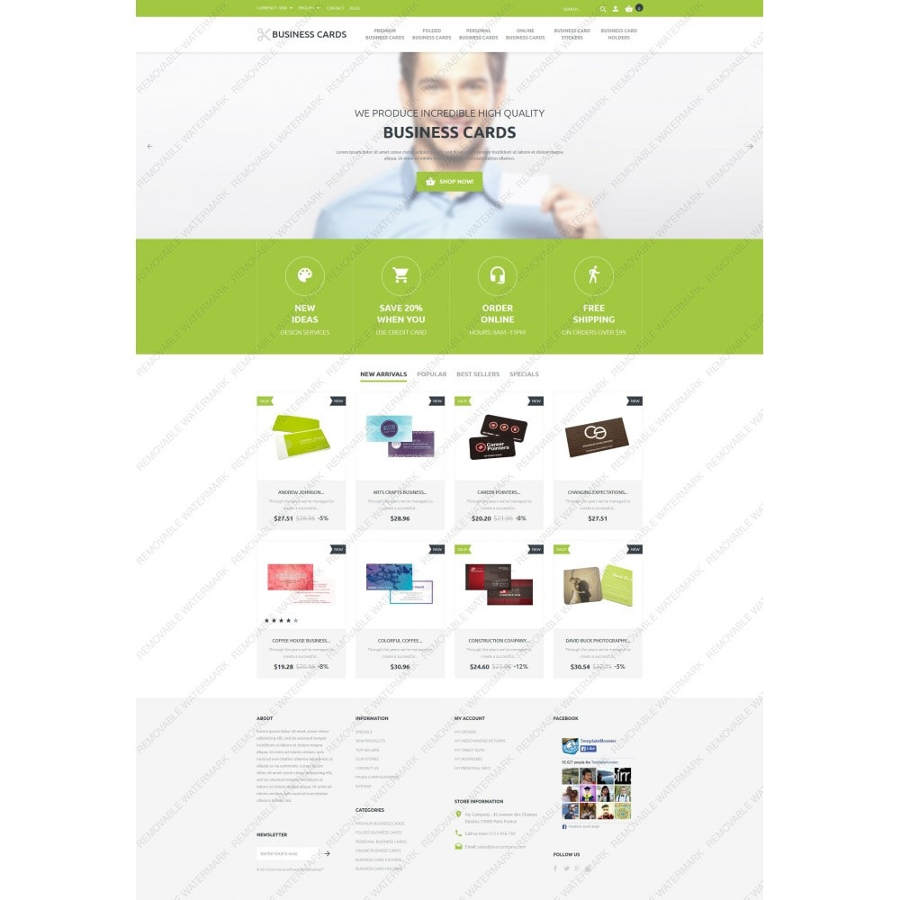 theme - Шаблоны PrestaShop - Business Cards Store - 5