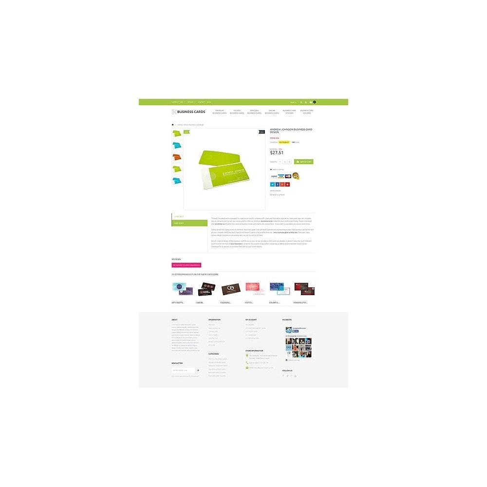theme - Шаблоны PrestaShop - Business Cards Store - 6