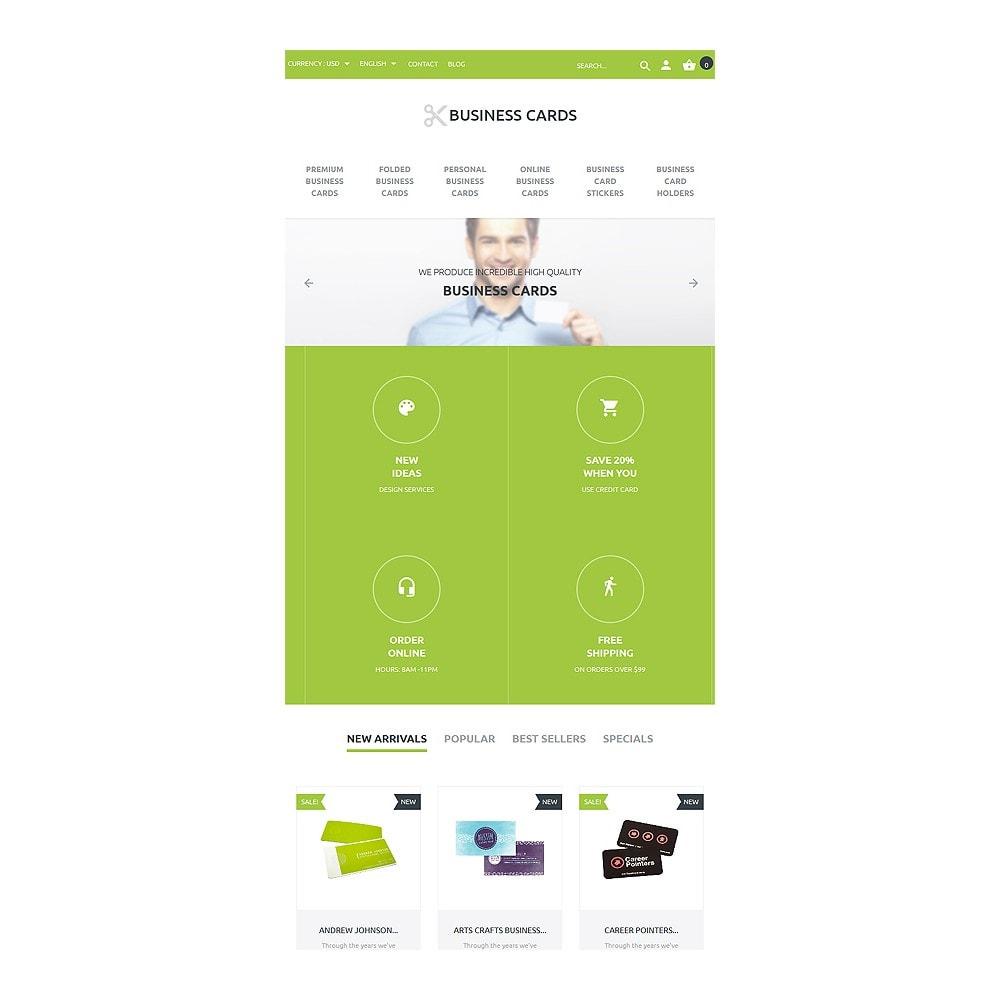 theme - Шаблоны PrestaShop - Business Cards Store - 7