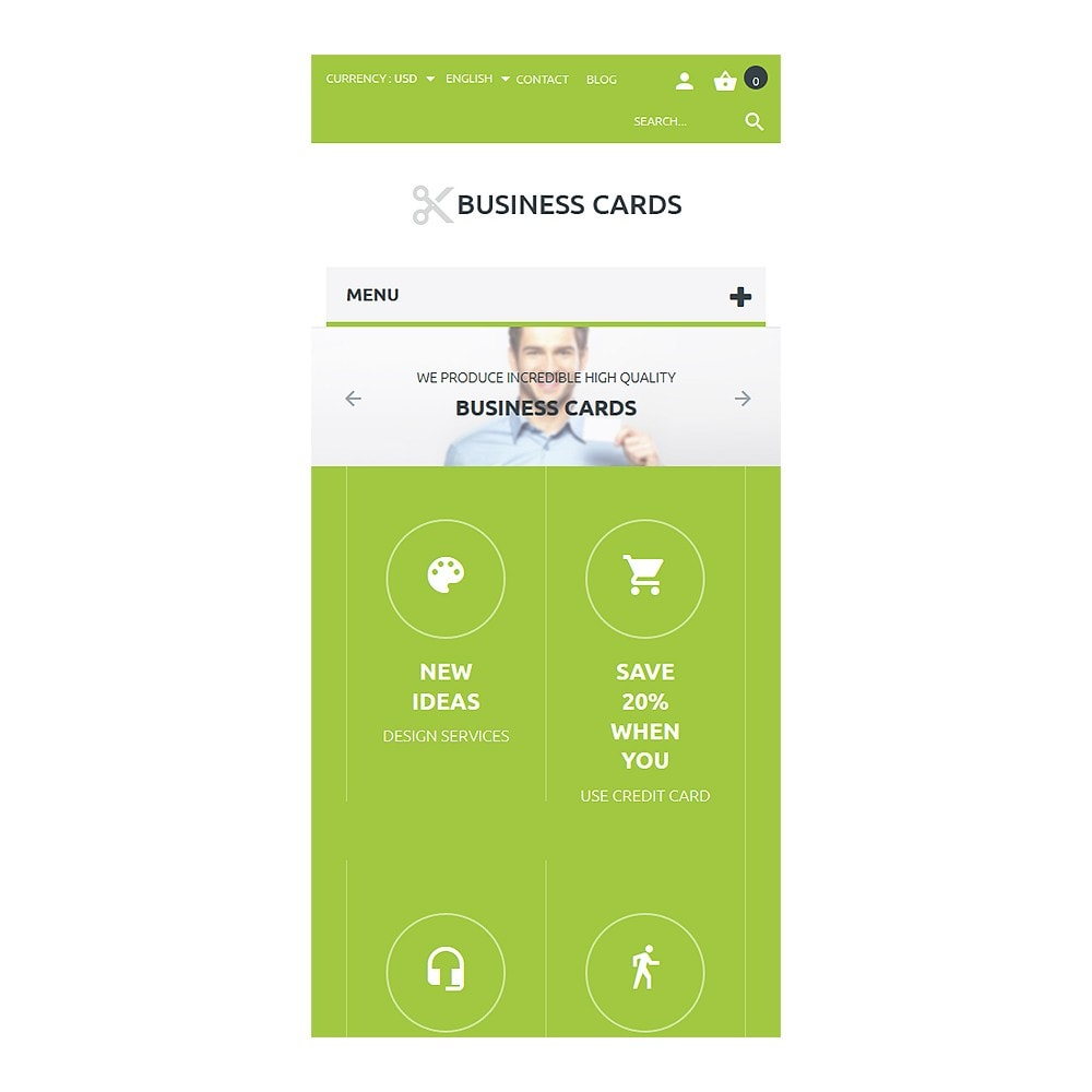 theme - Шаблоны PrestaShop - Business Cards Store - 8