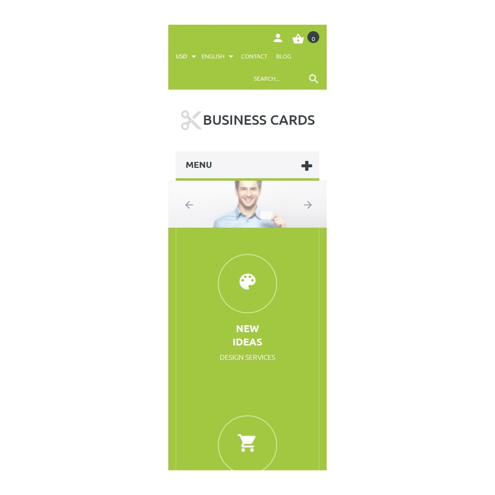 theme - Шаблоны PrestaShop - Business Cards Store - 9