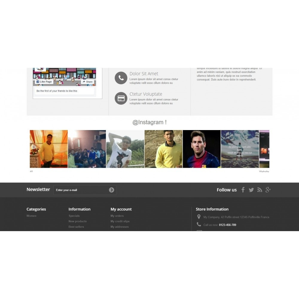 module - Sociale Widgets - Inst Social Image Feed carousel With responsive - 3
