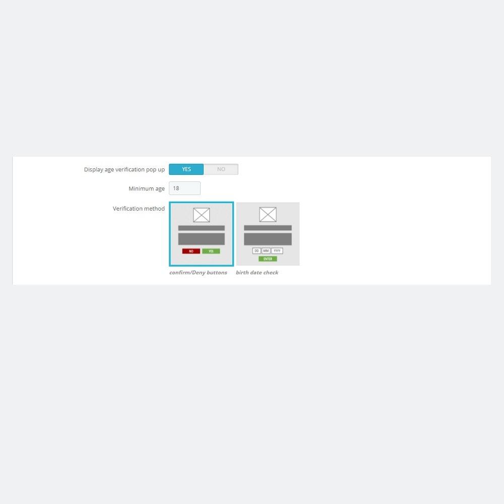 module - Seguridad y Accesos - Ventana emergente de verificación de la edad - 4