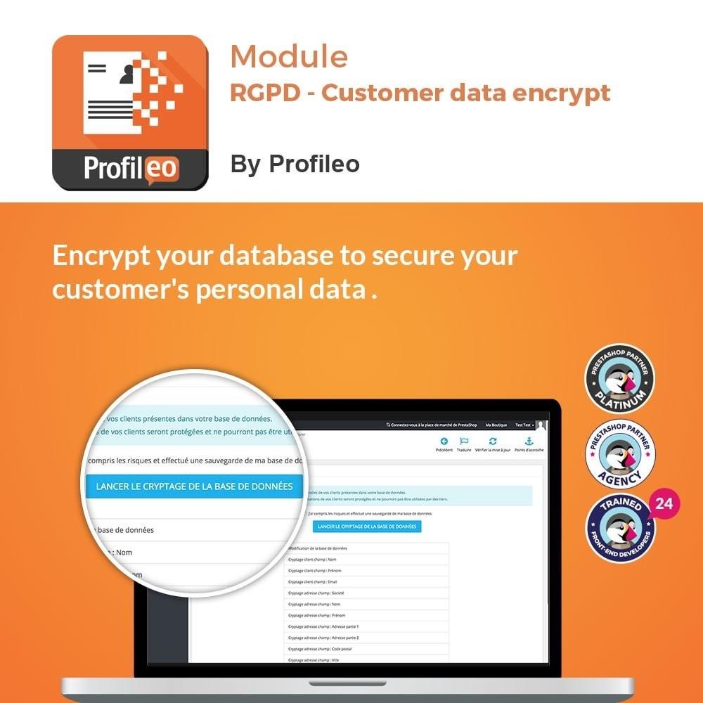module - Juridisch - GDPR - Customer data encrypt - 1