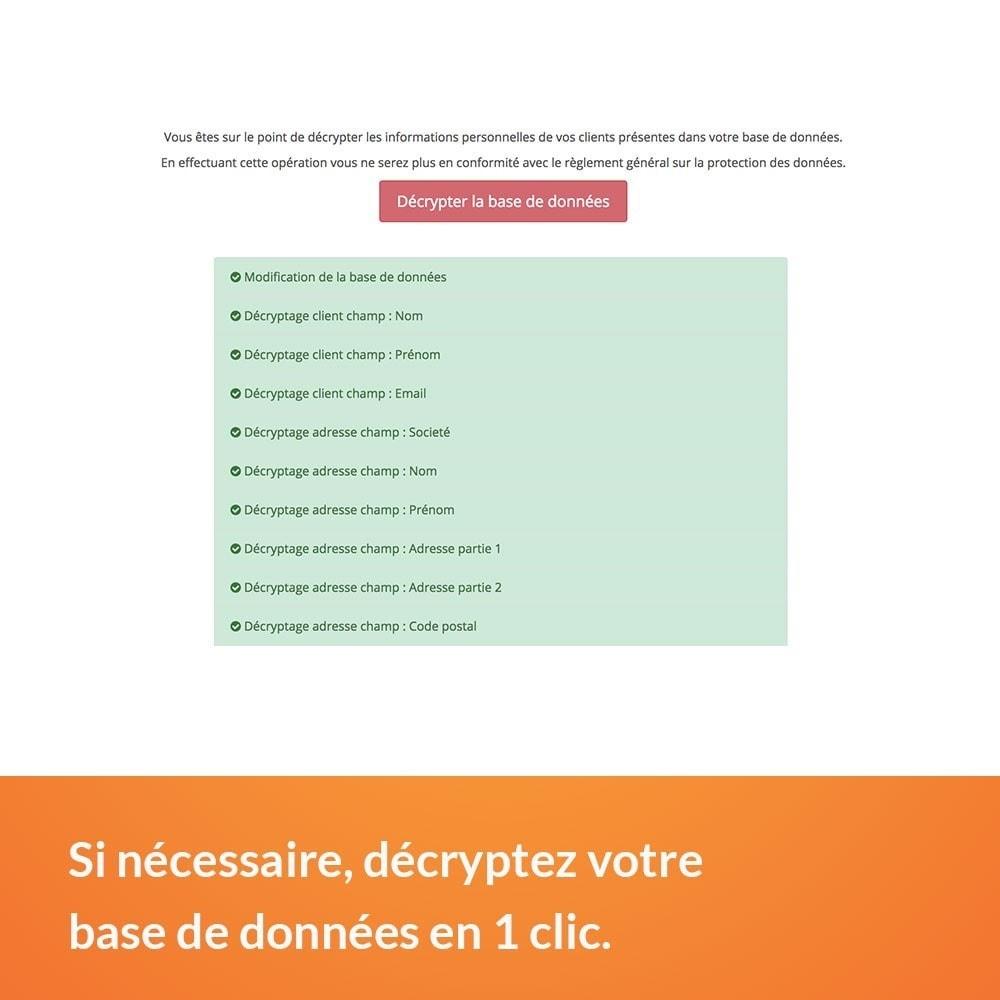 module - Législation - RGPD - Cryptage des données clients - 3