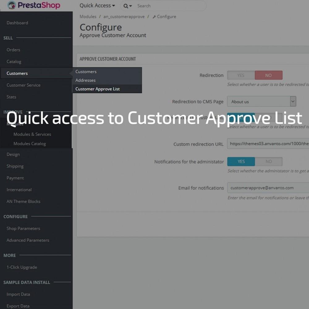 module - Administração dos Clientes - Approve Customer Account - 3