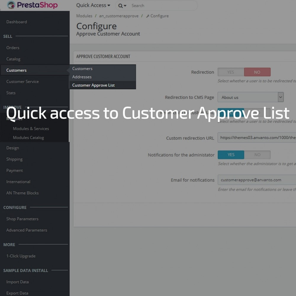 module - Gestione clienti - Customer Account Activation / New account moderation - 3