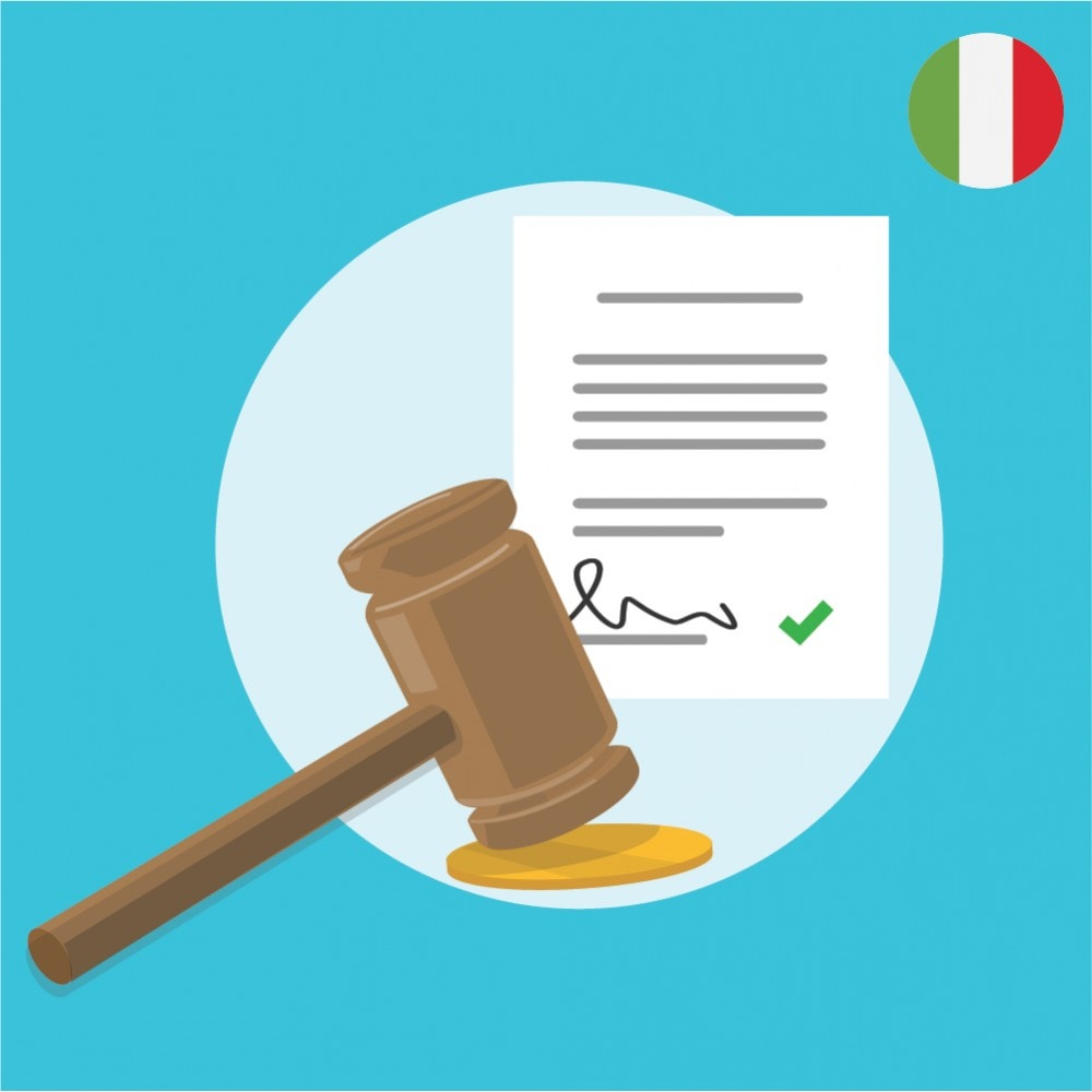 module - Législation - Custom Terms and Conditions for Italy - GDPR Compliant Module - 1