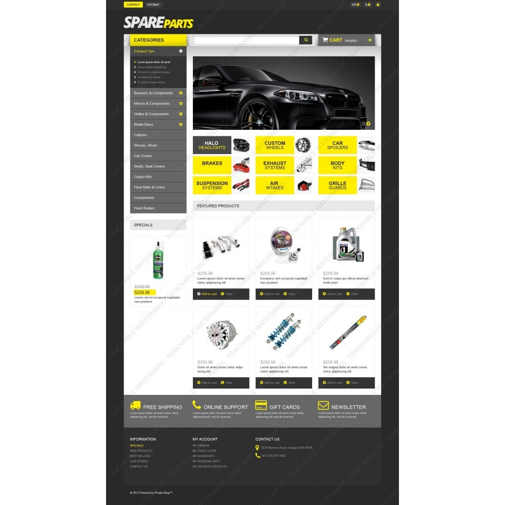 theme - Automotive & Cars - Spares for Speed - 3