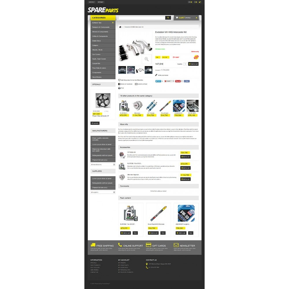 theme - Automotive & Cars - Spares for Speed - 6