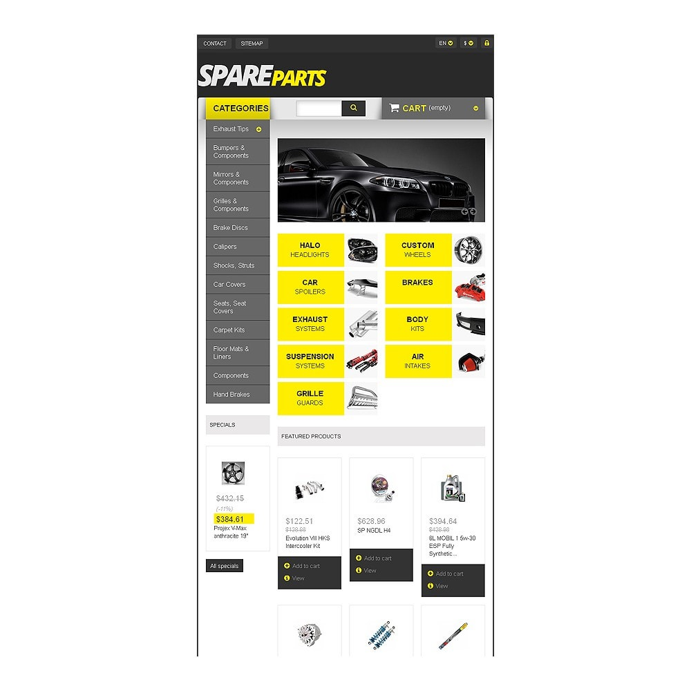 theme - Automotive & Cars - Spares for Speed - 7