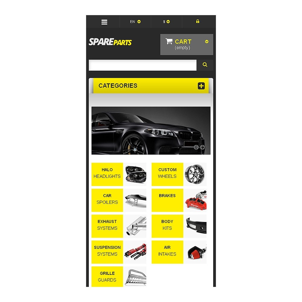 theme - Automotive & Cars - Spares for Speed - 8