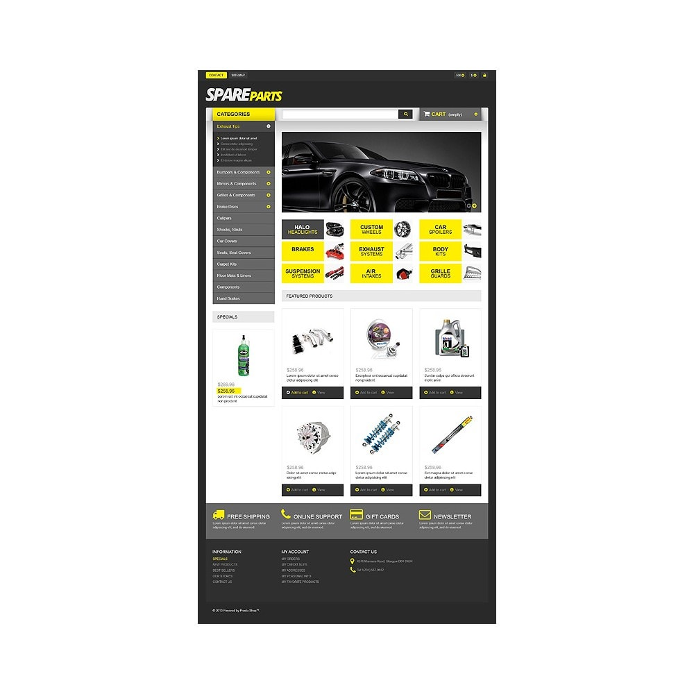 theme - Automotive & Cars - Spares for Speed - 10