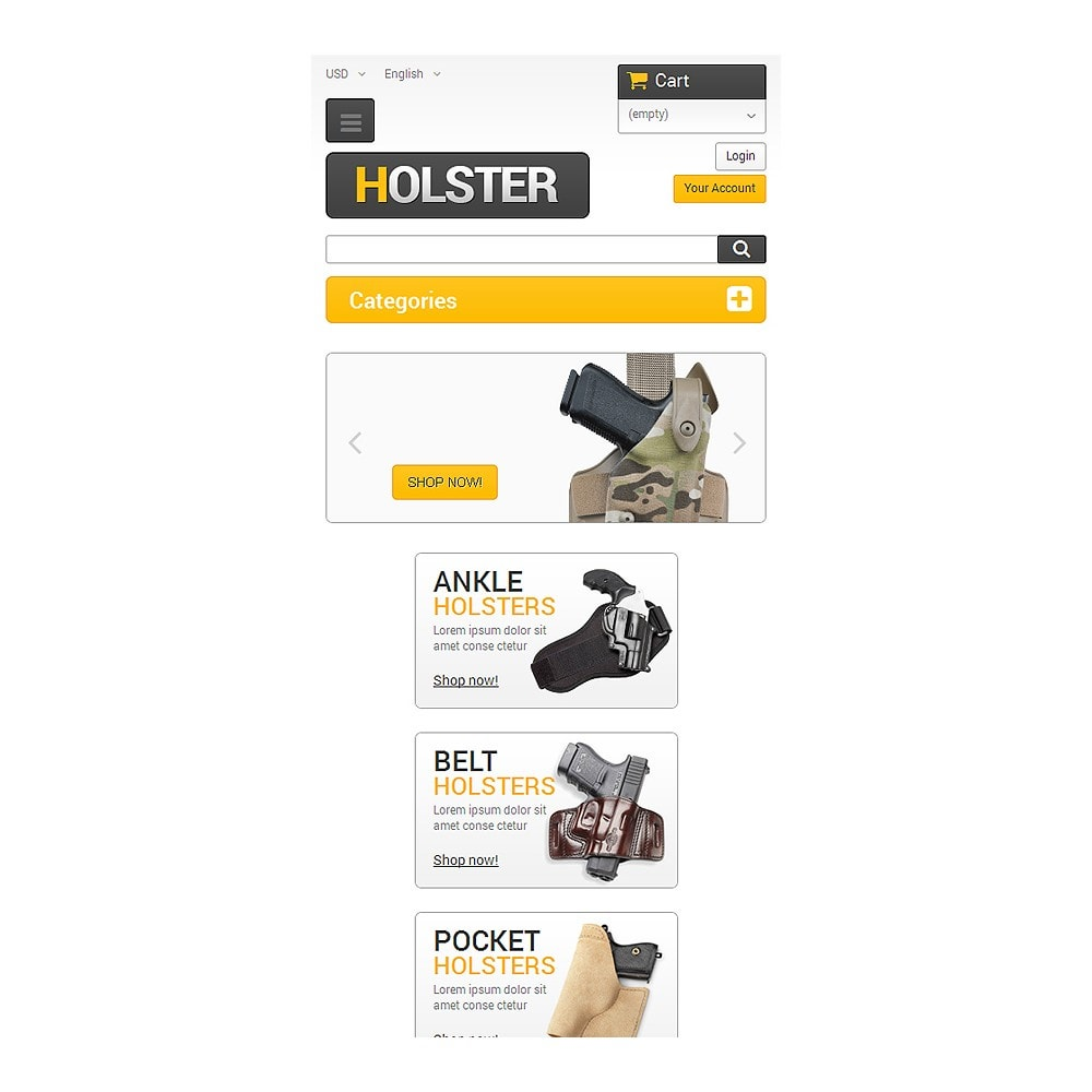 theme - PrestaShop Themen - Holsters for Cool Guys - 8