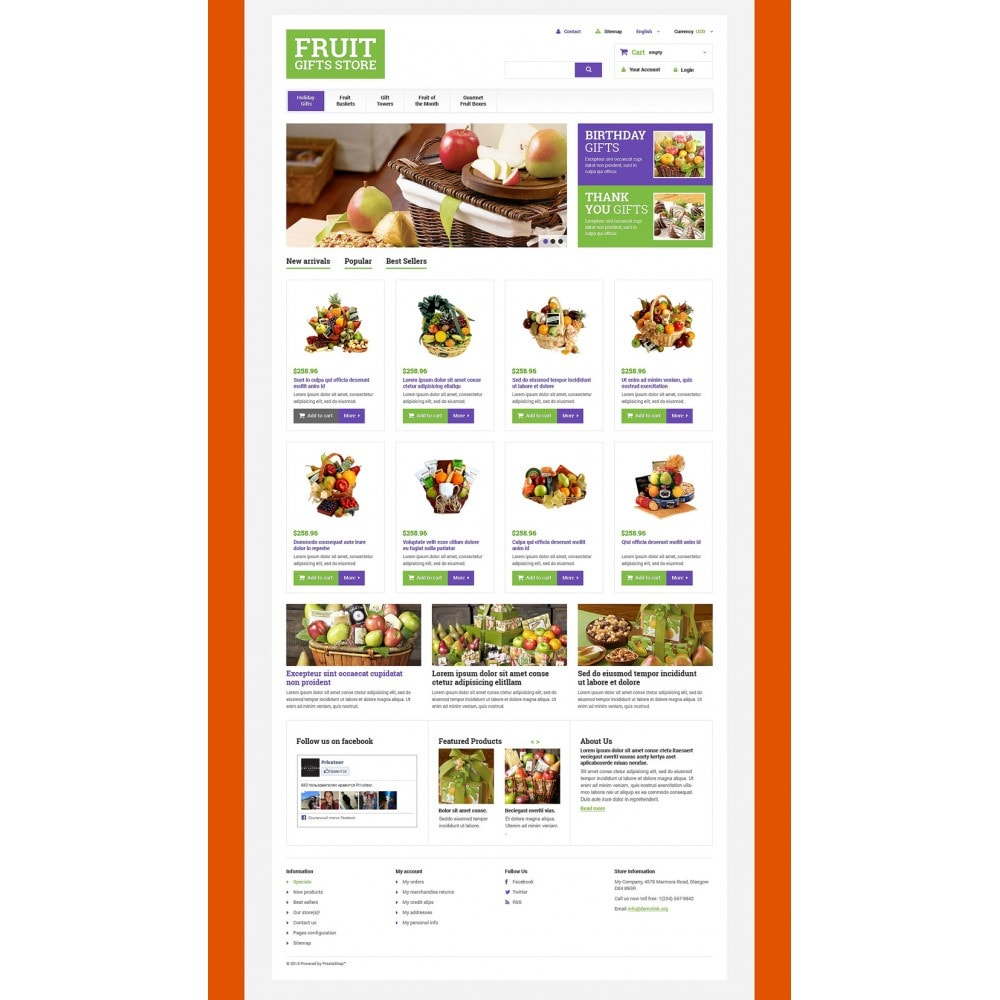 theme - Подарки, Цветы и праздничные товары - Fruit Gift Baskets - 2