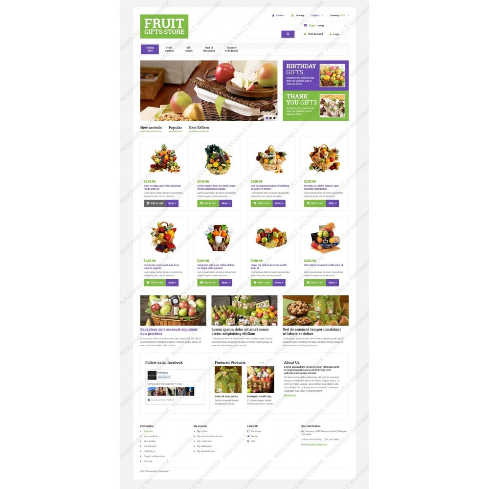 theme - Подарки, Цветы и праздничные товары - Fruit Gift Baskets - 5