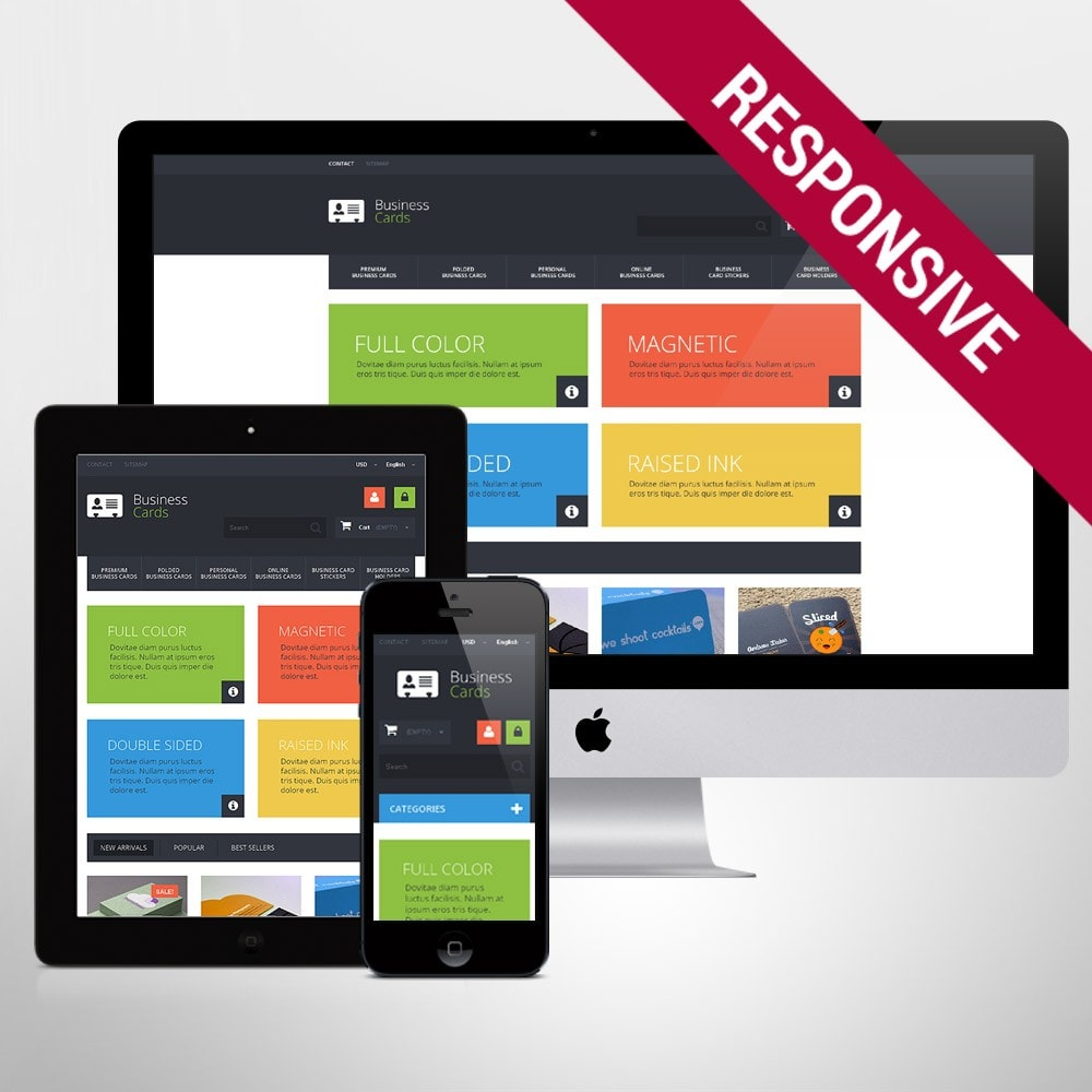 theme - Temas PrestaShop - Business Cards Store - 1