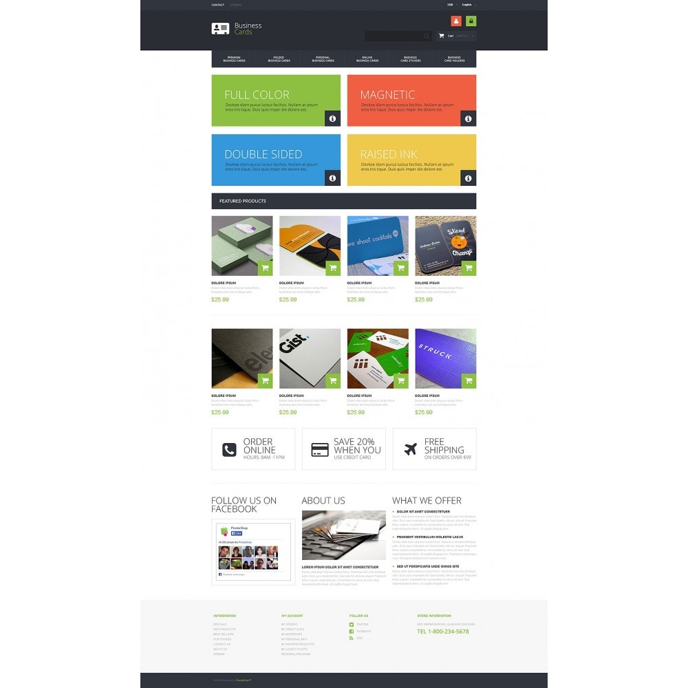 theme - Temas PrestaShop - Business Cards Store - 2