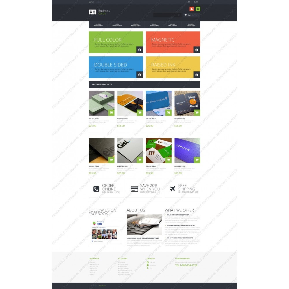 theme - Temas PrestaShop - Business Cards Store - 5
