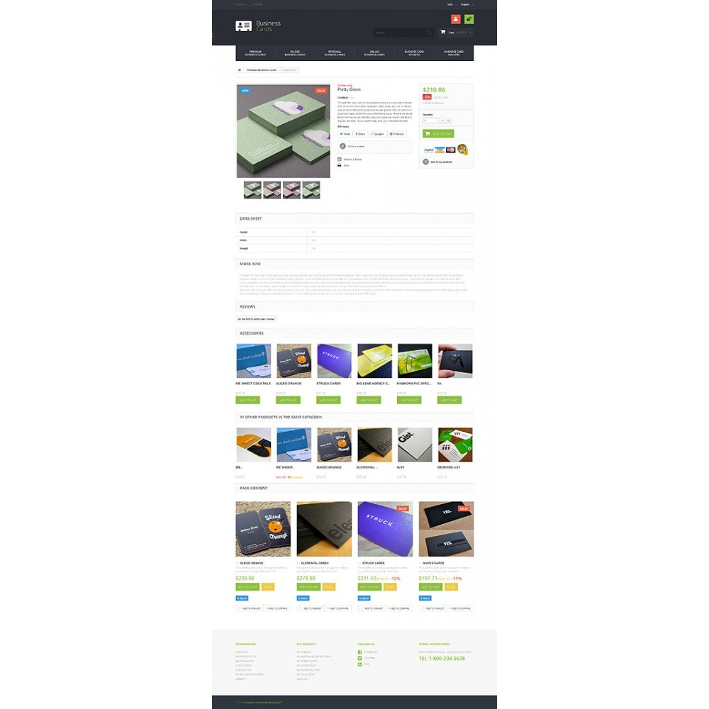 theme - Temas PrestaShop - Business Cards Store - 6