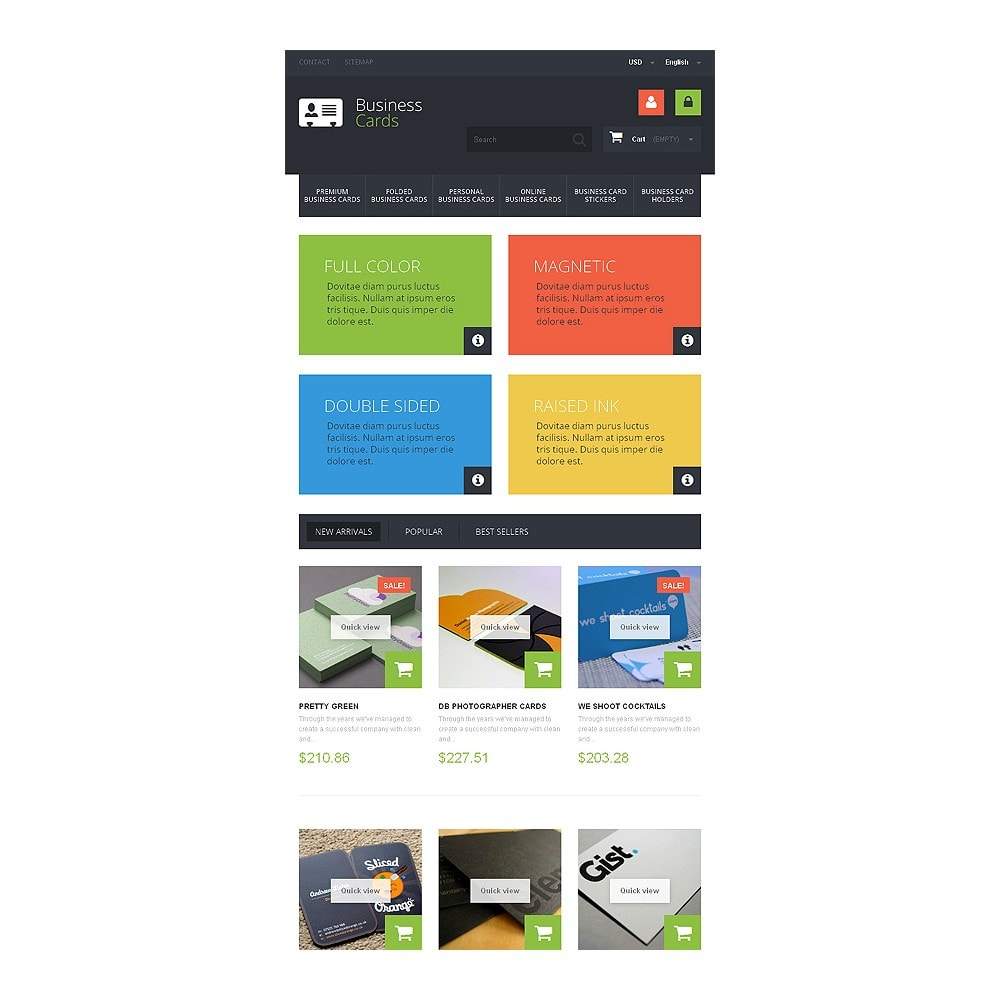 theme - Temas PrestaShop - Business Cards Store - 7
