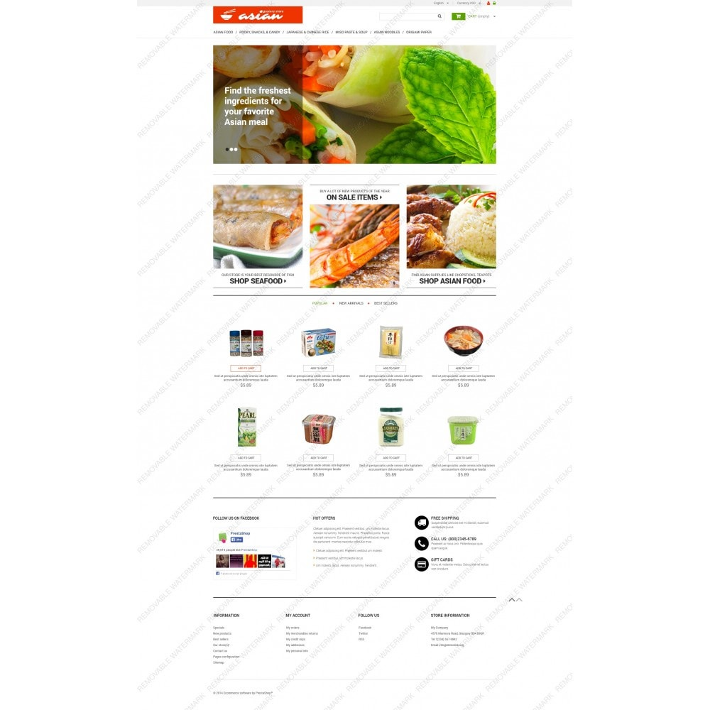 theme - Alimentation & Restauration - Epicerie asiatique - 3