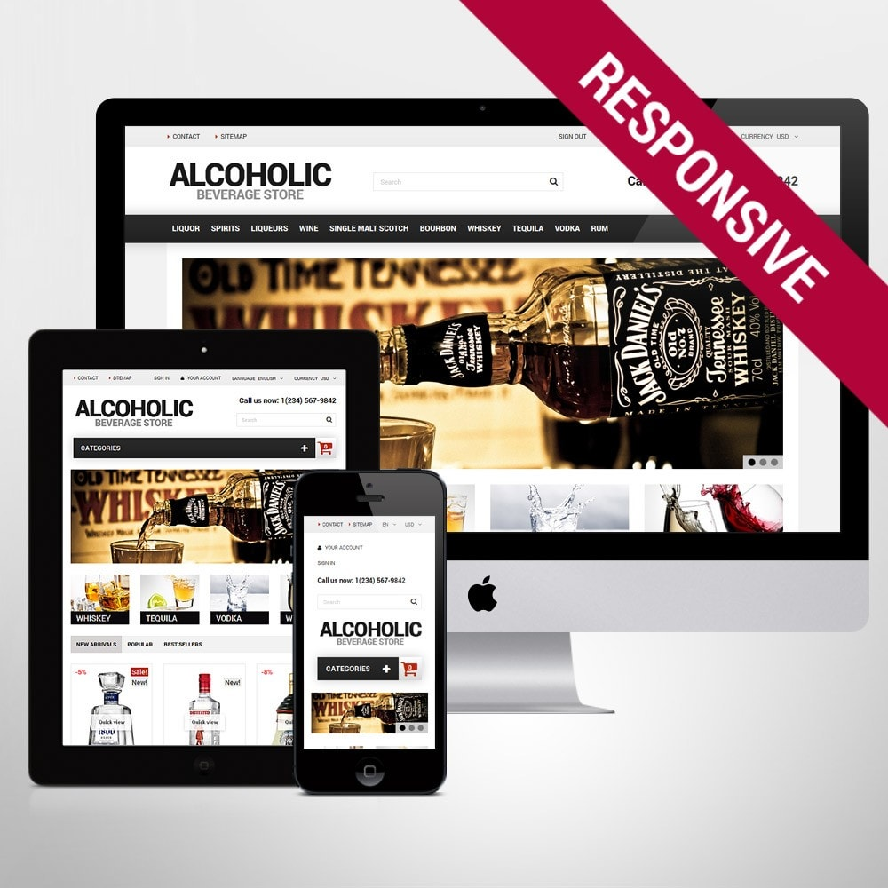 theme - Продовольствие и рестораны - Alcoholic Beverage Store - 1