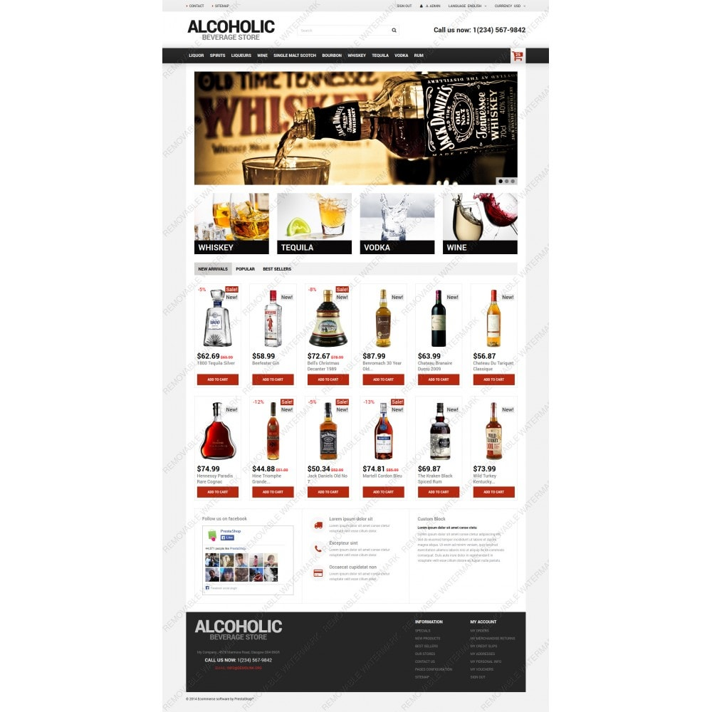 theme - Продовольствие и рестораны - Alcoholic Beverage Store - 5
