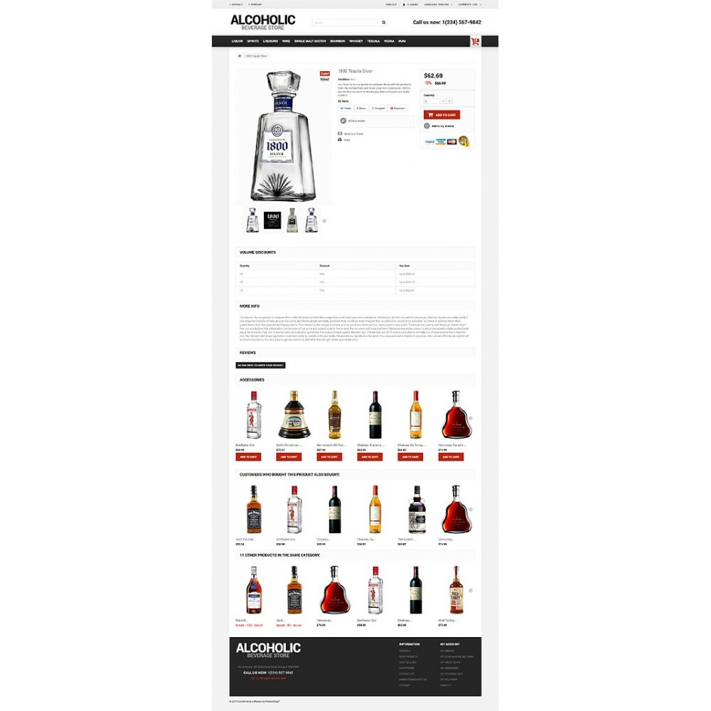theme - Продовольствие и рестораны - Alcoholic Beverage Store - 6