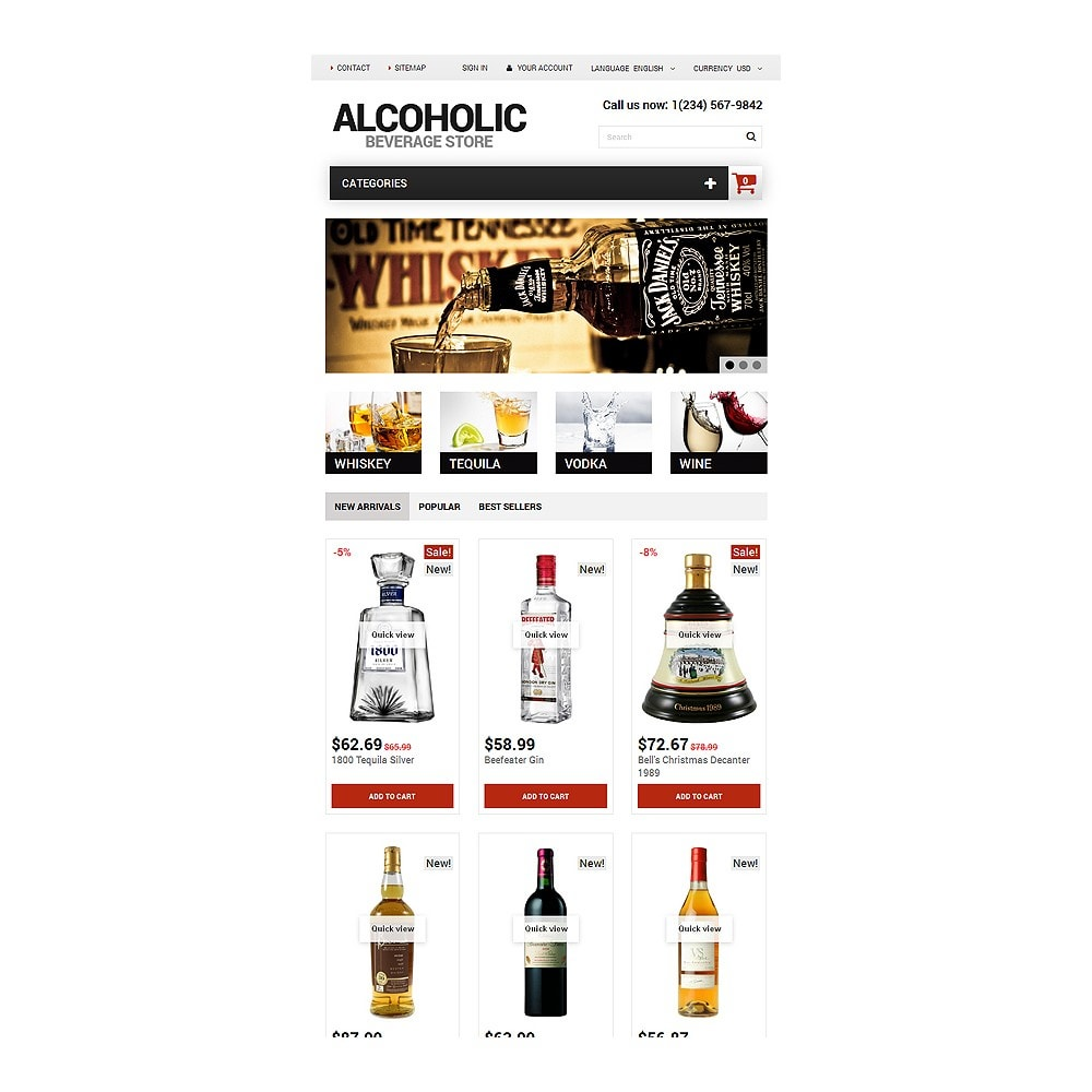 theme - Продовольствие и рестораны - Alcoholic Beverage Store - 7