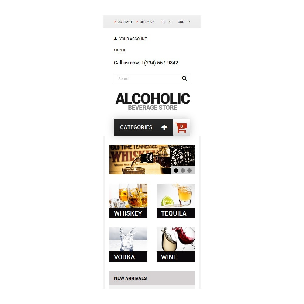 theme - Продовольствие и рестораны - Alcoholic Beverage Store - 9