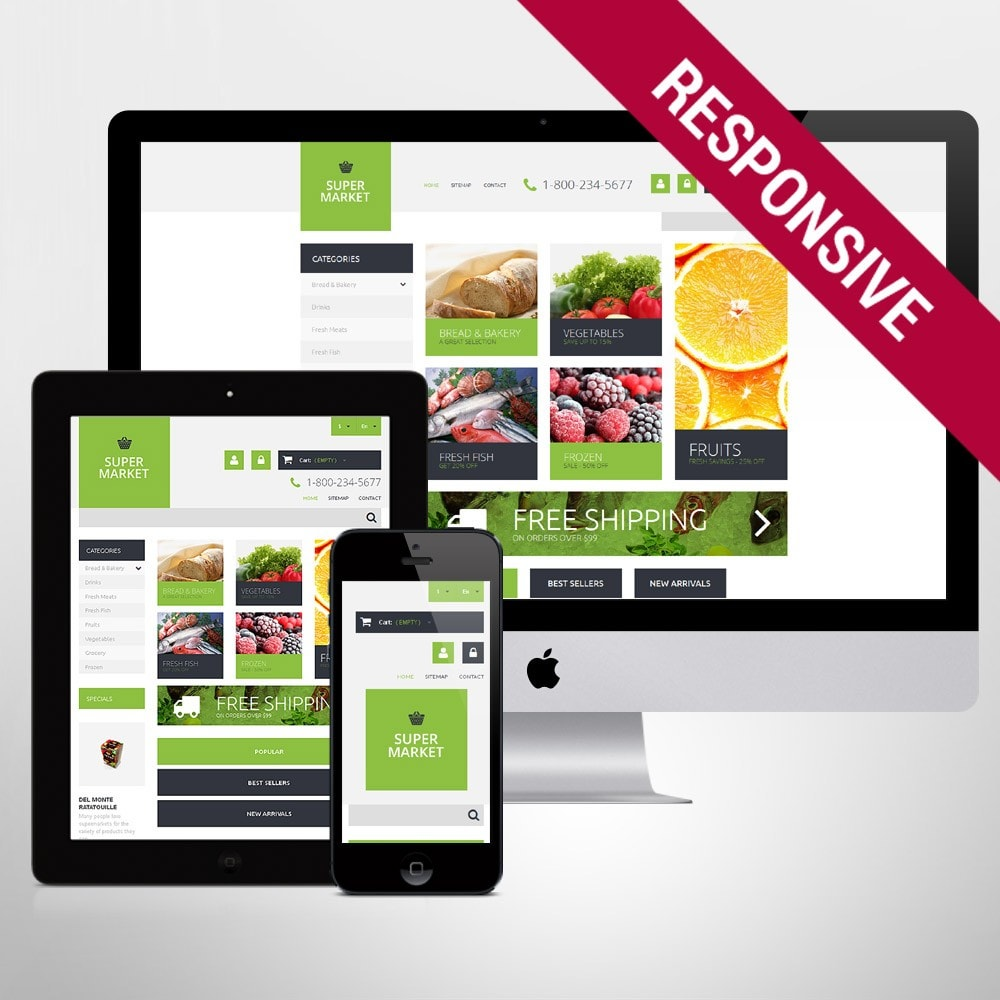 theme - Food & Restaurant - Supermarket Template - 1