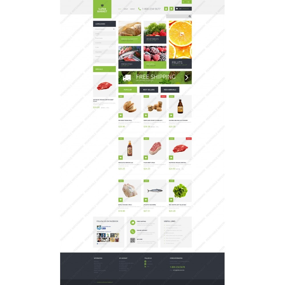 theme - Food & Restaurant - Supermarket Template - 5