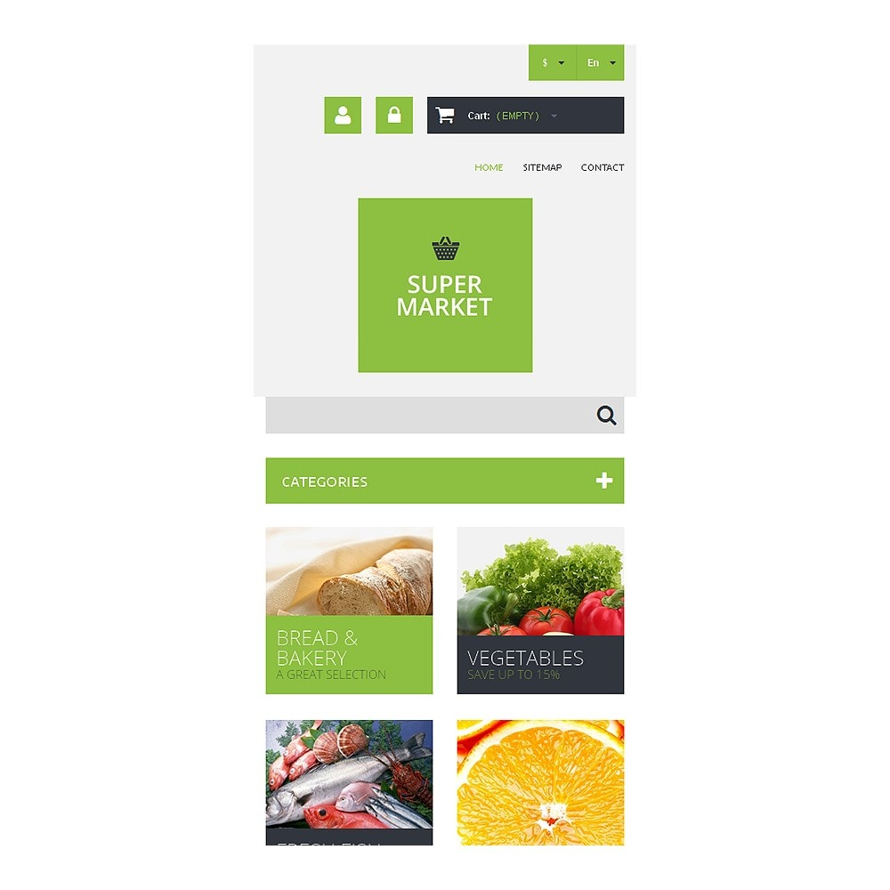 theme - Food & Restaurant - Supermarket Template - 8