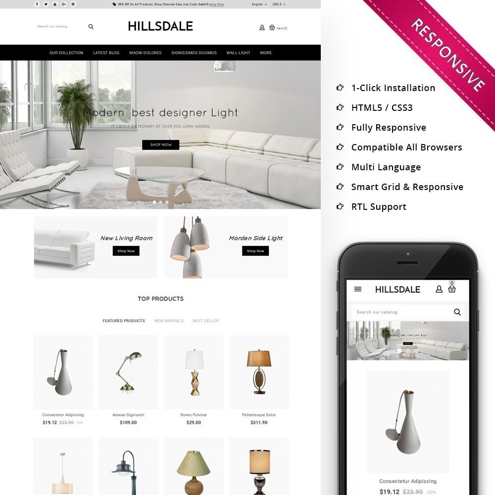 theme - Huis & Buitenleven - Hillsdale - The Furniture Mart - 1