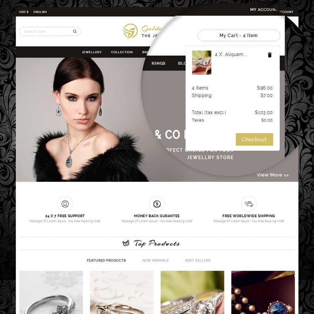 theme - Biżuteria & Akcesoria - Golden Sparrow - Jewelry Shop - 9
