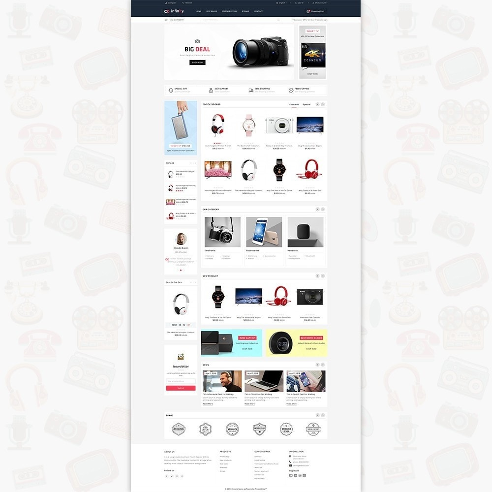 theme - Электроника и компьютеры - Infinity - The Mega Ecommerce Store - 2
