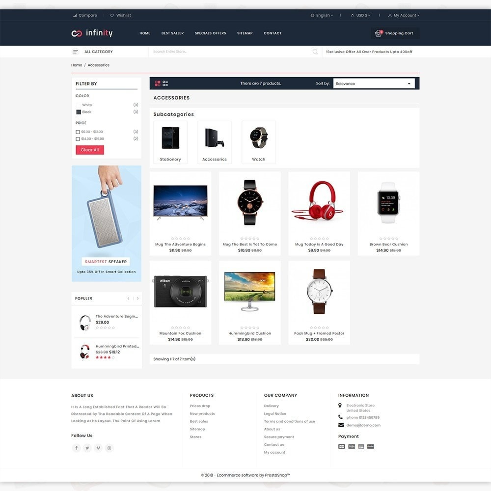 theme - Электроника и компьютеры - Infinity - The Mega Ecommerce Store - 3