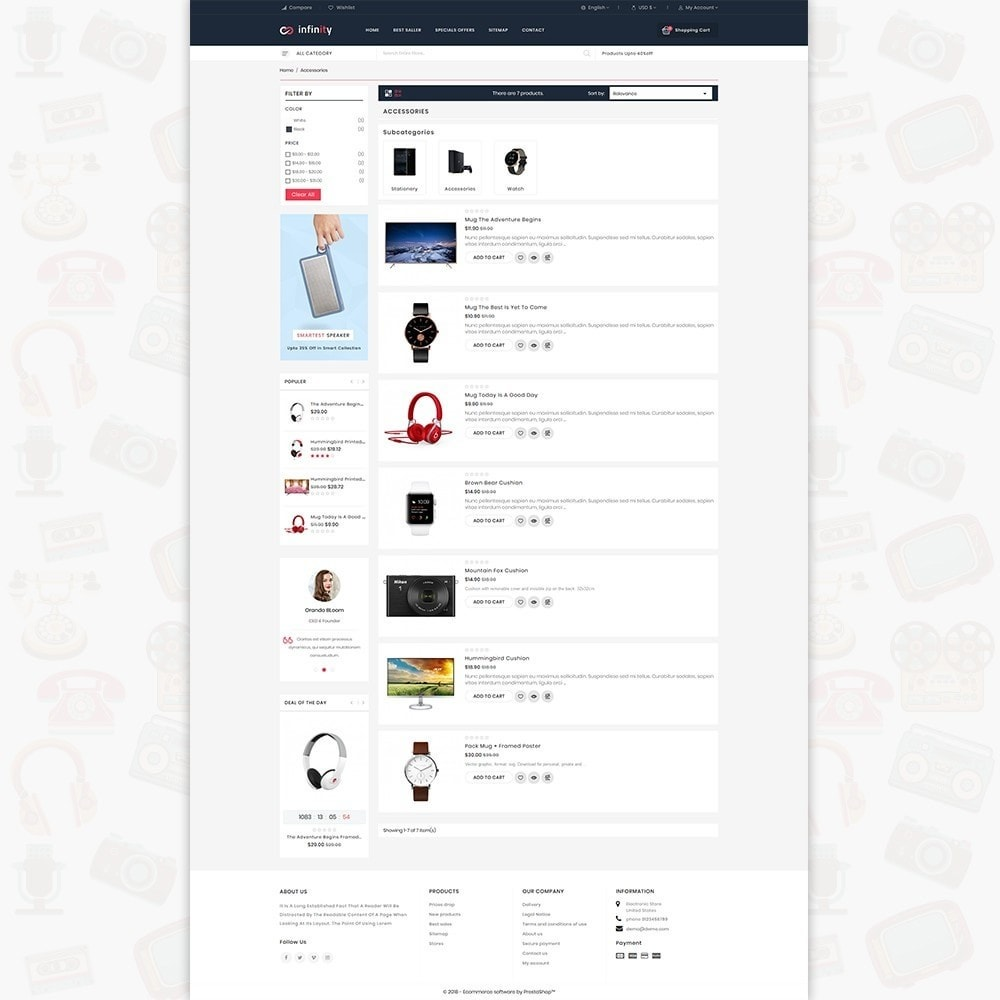 theme - Электроника и компьютеры - Infinity - The Mega Ecommerce Store - 4