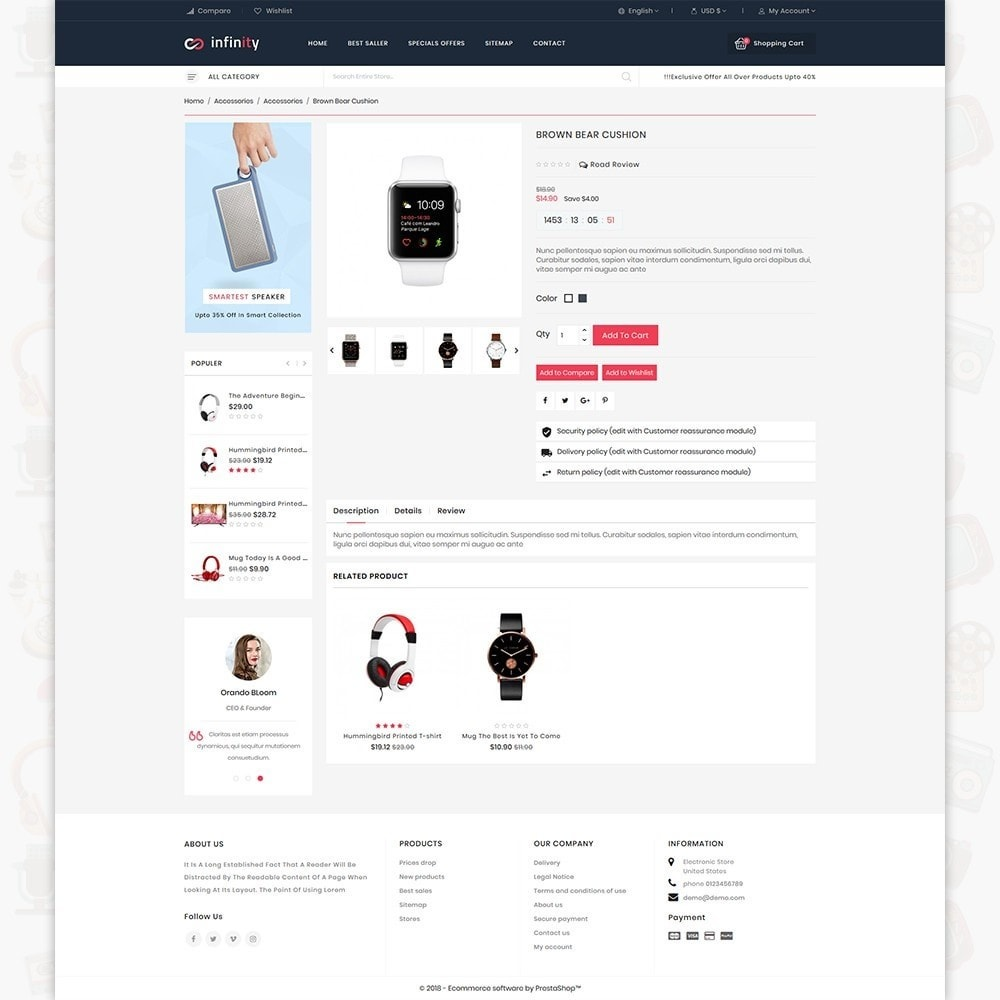 theme - Электроника и компьютеры - Infinity - The Mega Ecommerce Store - 5