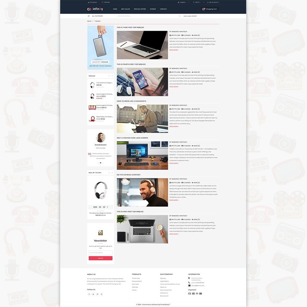 theme - Электроника и компьютеры - Infinity - The Mega Ecommerce Store - 7
