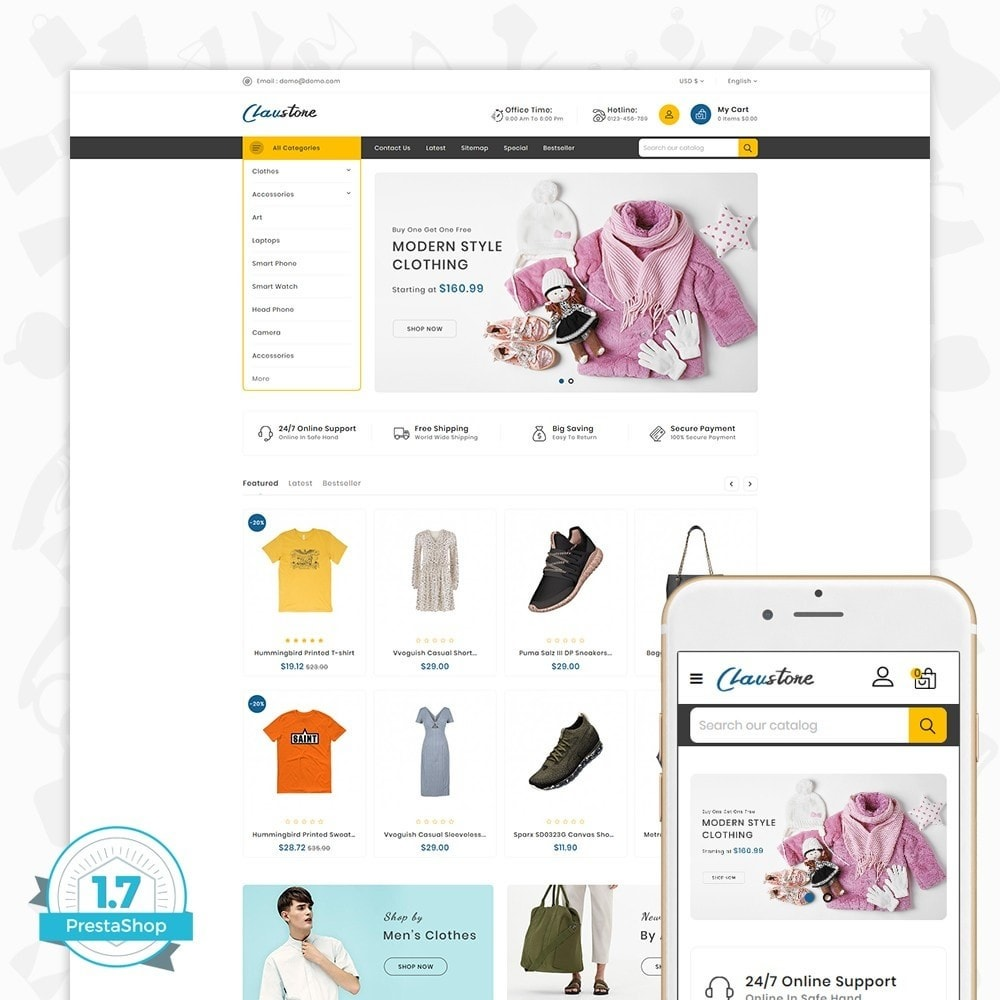 theme - Mode & Schoenen - Clausestore - The Fashion Template - 1