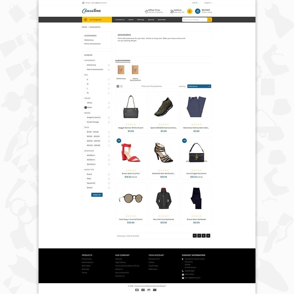theme - Mode & Schoenen - Clausestore - The Fashion Template - 3