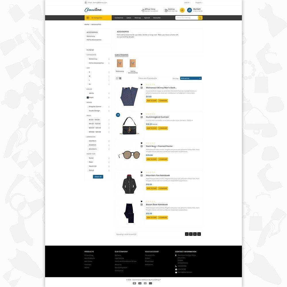 theme - Mode & Schoenen - Clausestore - The Fashion Template - 4