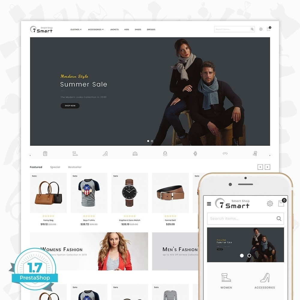 theme - Moda & Calzature - 7 Smart  - The Smart Store - 1