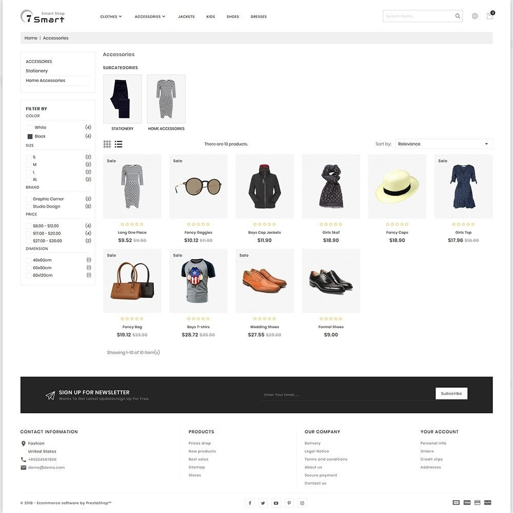 theme - Moda & Calzature - 7 Smart  - The Smart Store - 3