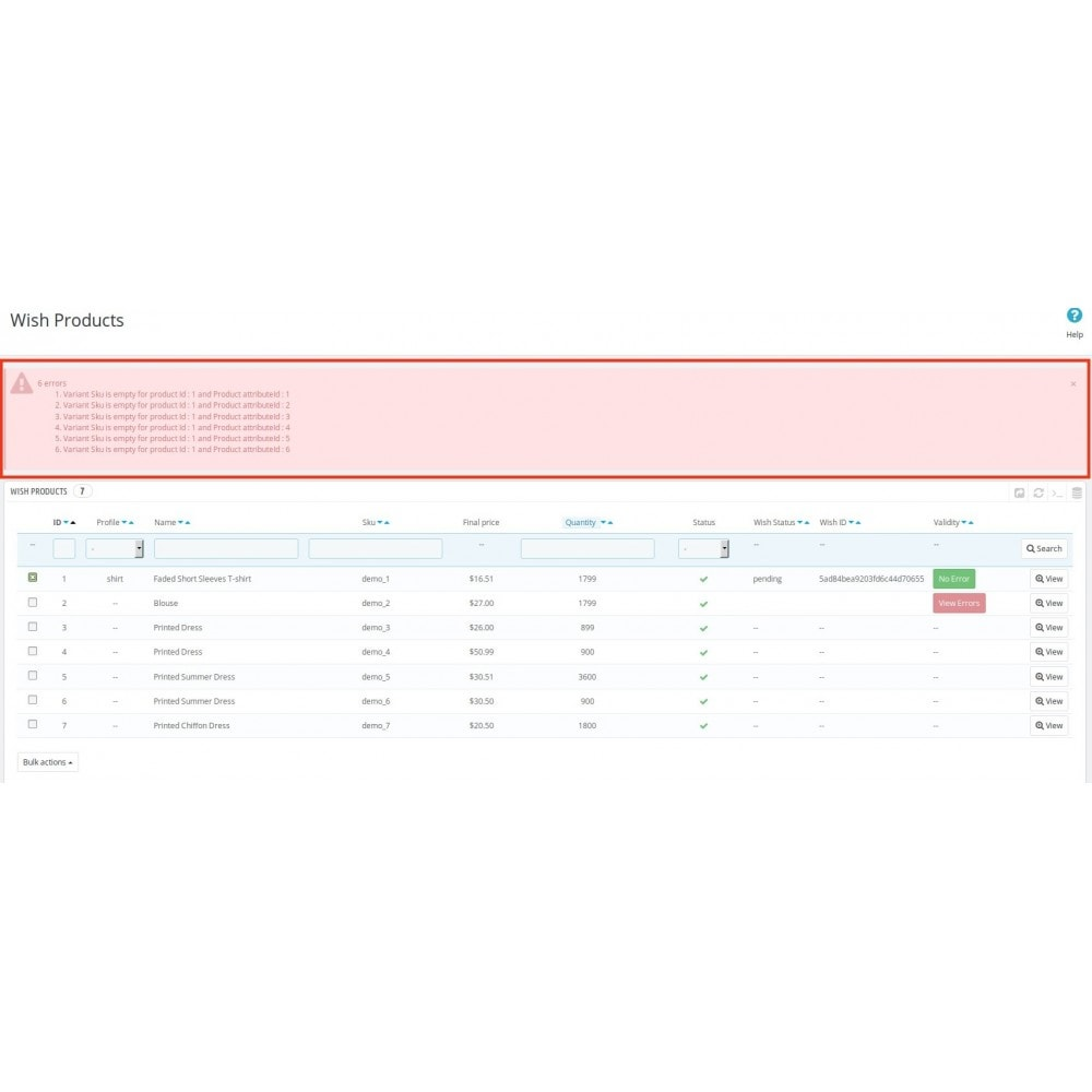 module - Marketplaces - Wish official integration - 18