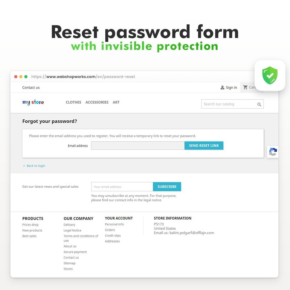 module - Security & Access - Spam Protection - Invisible reCaptcha - 7