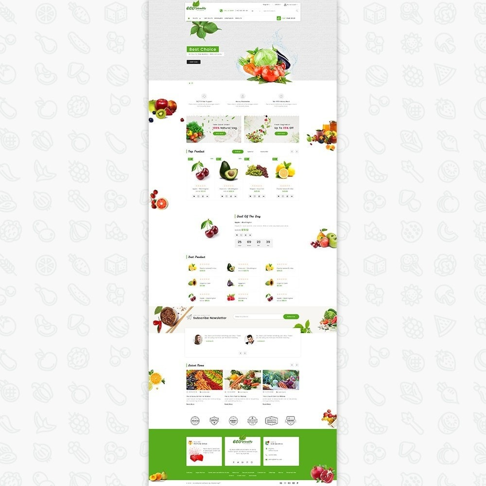 theme - Saúde & Beleza - Eco  - Friendly Organic Food Template - 2