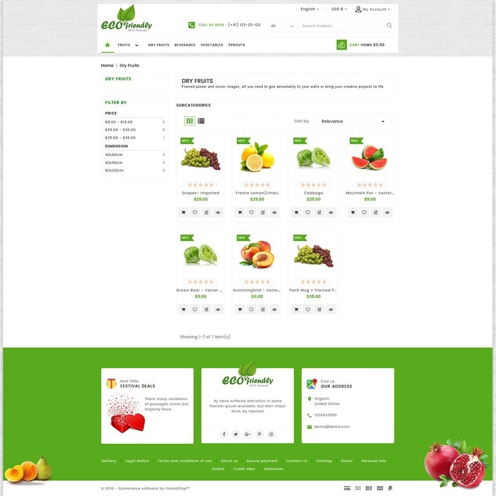 theme - Saúde & Beleza - Eco  - Friendly Organic Food Template - 3